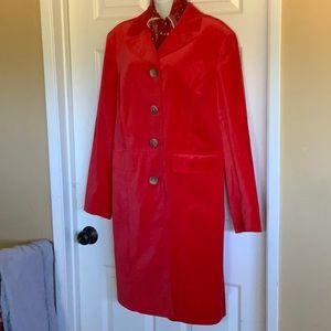 VINTAGE..SIGRID OLSEN red brushed velvet coat